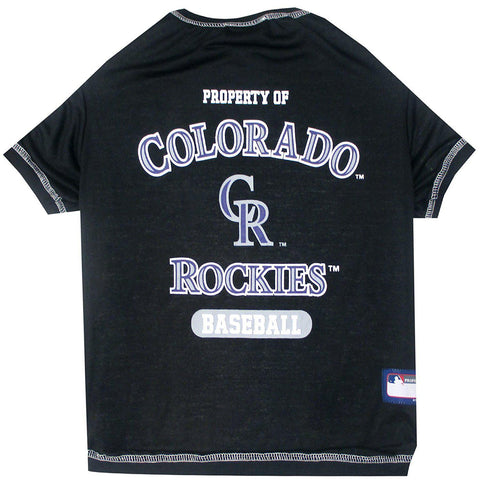 Colorado Rockies Dog Shirt-DOG-Pets First-X-SMALL-Pets Go Here l, m, mlb, pets first, s, sport shirt, xl, xs Pets Go Here, petsgohere