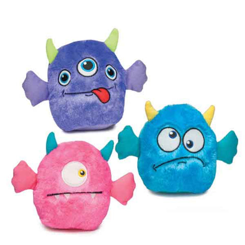 Zanies Rock Monsters Plush Squeaker Ball Dog Toy ball, blue, bluebird, bright, dog, dog toy, hot pink, new, petedge, PINK, plush, purple, squeak, toy Pets Go Here, petsgohere