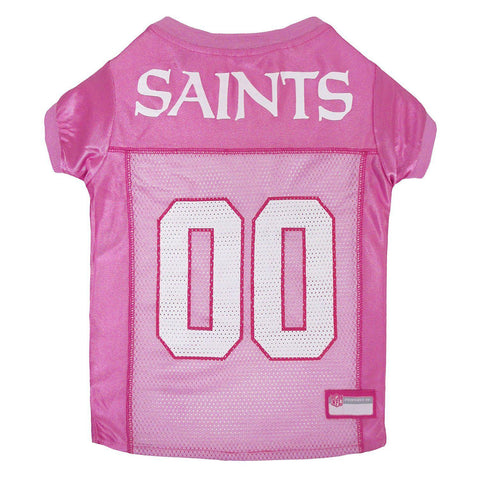 New Orleans Saints Dog Jersey PINK-DOG-Pets First-MEDIUM-Pets Go Here dc, jersey, l, m, nfl, pets first, pink, s, sports, sports jersey, xl, xs Pets Go Here, petsgohere