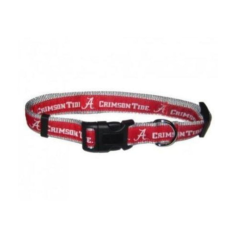 Alabama Crimson Tide Dog Collar-DOG-Sporty K9-SMALL-Pets Go Here mlb, nba, ncaa, ncaa dog collar, nylon, sports, sports collar, sporty k9 Pets Go Here, petsgohere