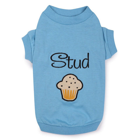 Zack and Zoey Stud Muffin Dog Shirt-DOG-Zack & Zoey-XX-SMALL-Pets Go Here l, m, s, xl, xs, xxs, zack & zoey Pets Go Here, petsgohere