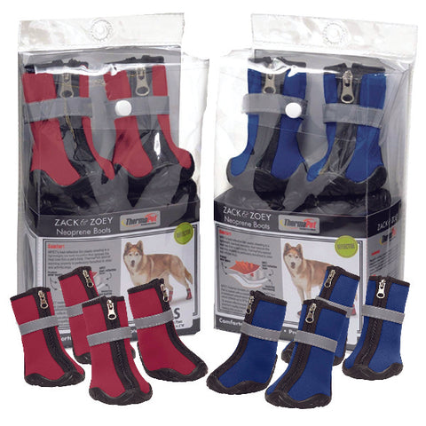 Zack & Zoey ThermaPet Neoprene Dog Boots blue, boots, dog, dog boots, ds, neoprene, pet edge, red, seasonal, thermal, weather Pets Go Here, petsgohere