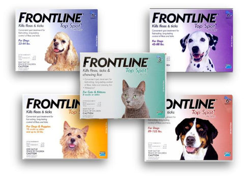 Frontline Top Spot Flea and Tick Treatment 23-44 lb, adult, flea, health, lice, merial, pet meds, test, tick, topspot Pets Go Here, petsgohere