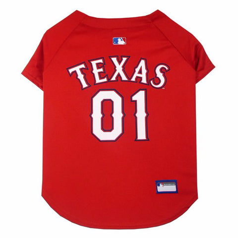 Texas Rangers Dog Jersey-DOG-Pets First-LARGE-Pets Go Here