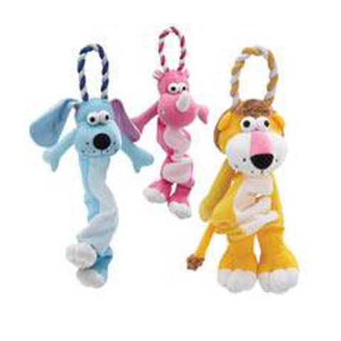 Grriggles Loop Troupe Toy Stuffed Dog Toy-DOG-Grriggles-Pets Go Here dog toy, dog toy rope, grriggles, plush, rope, squeaker, toy Pets Go Here, petsgohere