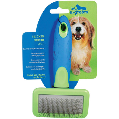 UGroom Slicker Brush brush, dog, grooming, l, m, pet grooming supplies, rubber, s, slicker brush, ugroom, xl, xs Pets Go Here, petsgohere