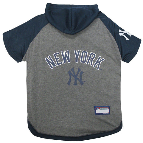 New York Yankees Dog Hoodie Shirt-DOG-Pets First-LARGE-Pets Go Here l, m, pets first, s, sports, sports shirt, test, xl, xs Pets Go Here, petsgohere
