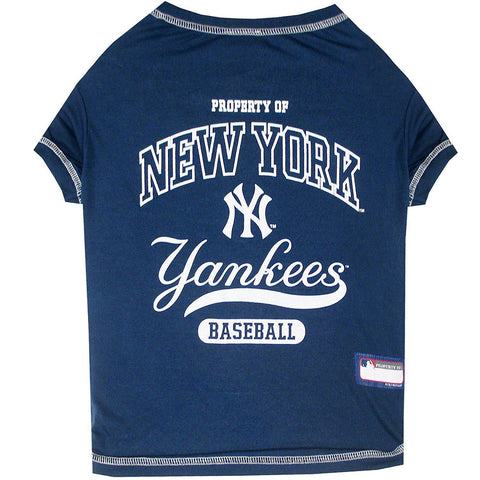 New York Yankees Dog Shirt-DOG-Pets First-X-SMALL-Pets Go Here l, m, mlb, pets first, s, sports, sports shirt, xl, xs Pets Go Here, petsgohere