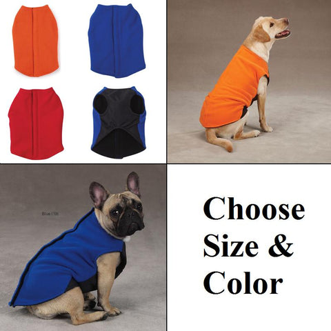 Zack and Zoey Fleece Dog Vest-DOG-Zack & Zoey-RED-X-SMALL-Pets Go Here blue, coat, dog coat, fleece, orange, red, velcro, vest, zack & zoey Pets Go Here, petsgohere