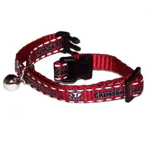 Alabama Crimson Tide Breakaway Cat Collar-CAT-Sporty K9-Pets Go Here cat collar sports, ncaa cat collar, nylon, pets first, reflective, sports, sports collar Pets Go Here, petsgohere