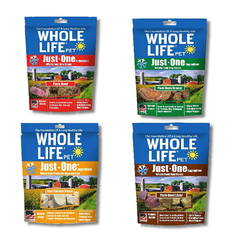 Whole Life Pet Just One Freeze Dried Dog Treats amazon dog treat, chicken, dog, freeze-dried, natural, treat, whole life pet Pets Go Here, petsgohere