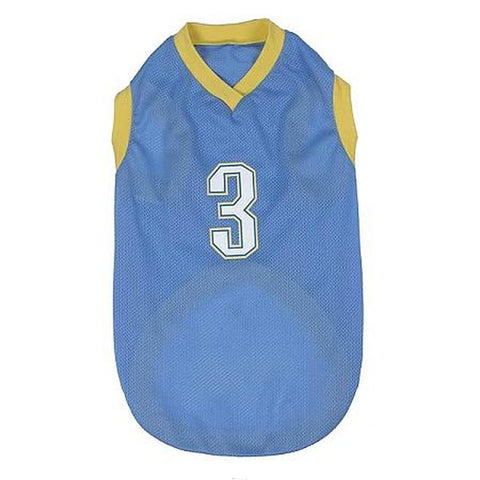 Casual Canine All-Star Basketball Jersey # 3 SMALL-DOG-Casual Canine-Pets Go Here blue, casual canine, jerseys, test Pets Go Here, petsgohere