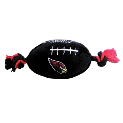Arizona Cardinals Dog Toy Football-DOG-Hunter-Pets Go Here dc, doggienation, ds, oos, pets first, sports, sports toys Pets Go Here, petsgohere