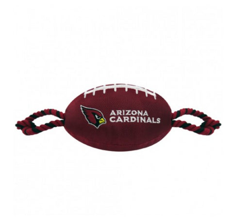 NFL Arizona Cardinals Nylon Football Dog Toy doggienation, ds, pets first, sports, sports toys Pets Go Here, petsgohere