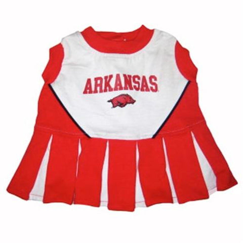 Arkansas Cheerleader Dog Dress-DOG-Pets First-X-SMALL-Pets Go Here costume, dog, dog dress, l, m, ncaa, pets first, s, sports, test, uniform, xl, xs Pets Go Here, petsgohere
