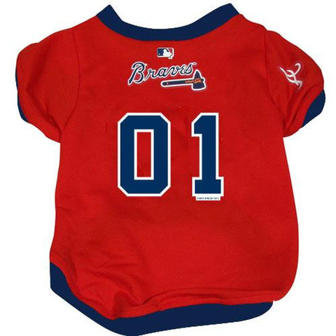 Atlanta Braves Dog Jersey RED-DOG-Hunter-LARGE-Pets Go Here hunter, jersey, l, m, mlb, mlb jersey, red, s, sports, sports jersey, xl, xs Pets Go Here, petsgohere