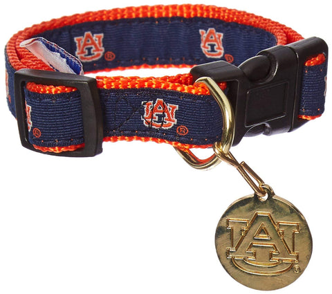 NCAA Auburn Tigers Dog Collar EMBROIDERED l, m, m/l, mlb, nba, ncaa, s, s/m, sports, sports collar, sporty k9, xl, xs Pets Go Here, petsgohere