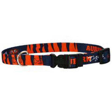 Auburn Tigers Ribbon Dog Collar-DOG-Sporty K9-MEDIUM/LARGE-Pets Go Here m, m/l, mlb, nba, ncaa, nylon, s, sports, sports collar, sporty k9, xs Pets Go Here, petsgohere