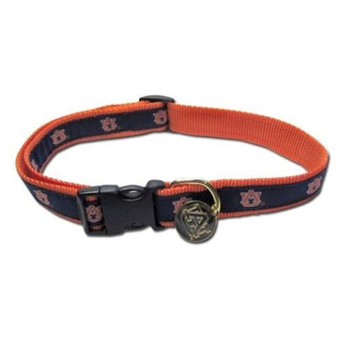 Auburn Tigers Embroidered Dog Collar-DOG-Sporty K9-SMALL-Pets Go Here