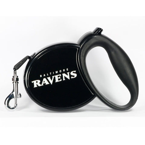 NFL Baltimore Ravens Retractable Dog Leash 13'
