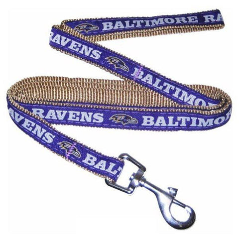 Baltimore Ravens Leash Embroidered-DOG-Pets First-Pets Go Here 4 ft, 6 ft, jersey, leash, nfl, nylon, sports, sports jersey Pets Go Here, petsgohere