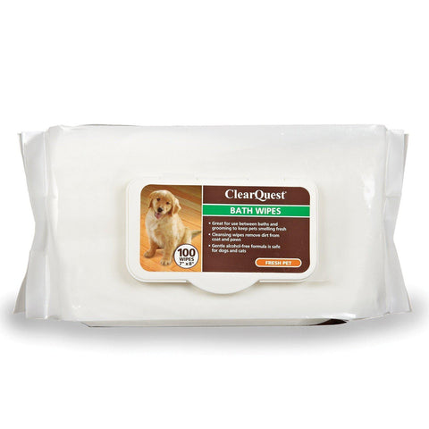 ClearQuest Pet Bath Wipes