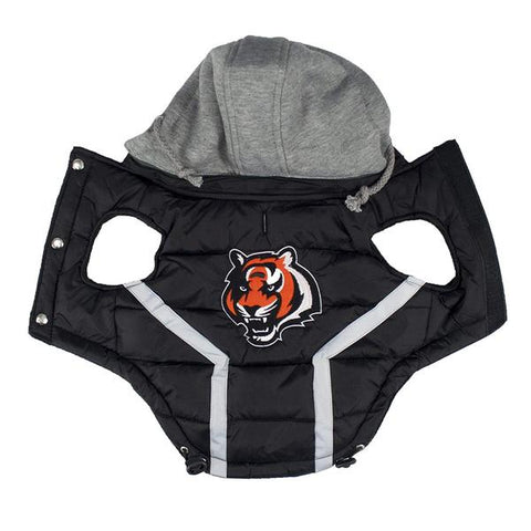 NFL Cincinnati Bengals Dog Coat hip doggie, l, m, nfl, s, sports, sports coat, xl, xs Pets Go Here, petsgohere