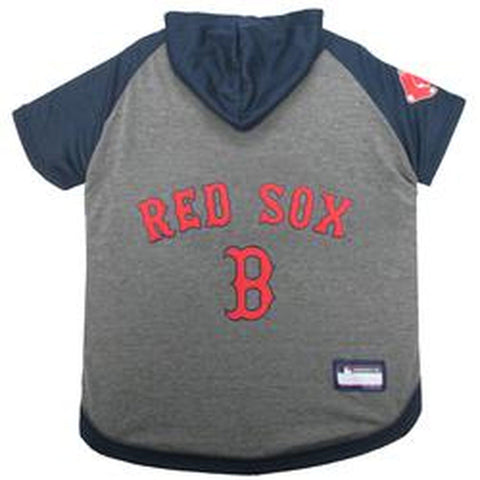 Boston Red Sox Dog Hoodie Shirt-DOG-Pets First-LARGE-Pets Go Here l, m, mlb, pets first, red, s, sport shirt, xl, xs Pets Go Here, petsgohere