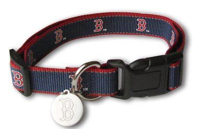 MLB Boston Red Sox Dog Collar REFLECTIVE hunter, mlb, nba, ncaa, nylon, red, sports, sports collar Pets Go Here, petsgohere