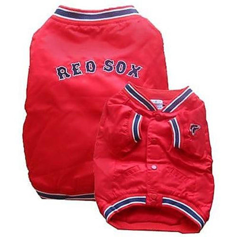 Boston Red Sox Dugout Jacket for Dogs-DOG-Sporty K9-X-LARGE-Pets Go Here