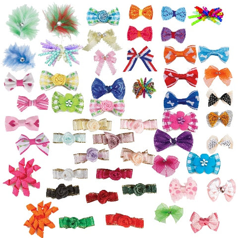 Pets Go Here Hair Bow Variety Packs 5 Pack