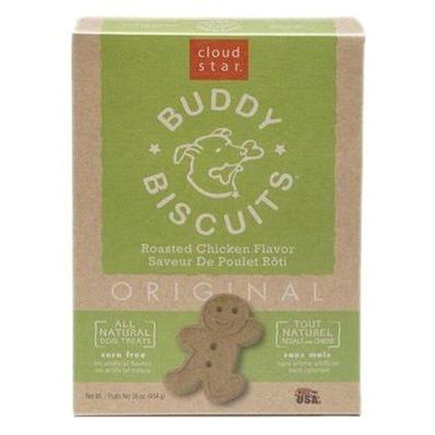 Cloud Star Buddy Biscuit CHICKEN 16 Oz Box-DOG-Cloud Star-Pets Go Here cloud star, crunchy, treat, white Pets Go Here, petsgohere