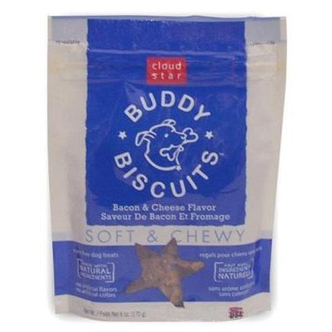 Cloud Star Buddy Biscuit Soft & Chewy-DOG-Cloud Star-Bacon & Cheese-Pets Go Here 6 oz, bacon & cheese, chewy, cloud star, dog, dog biscuit, peanut butter, treat Pets Go Here, petsgohere