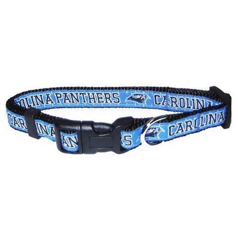 Carolina Panthers Dog Collar-DOG-Pets First-MEDIUM-Pets Go Here l, m, nfl, nylon, pets first, s, sports, sports collar, xl, xs Pets Go Here, petsgohere
