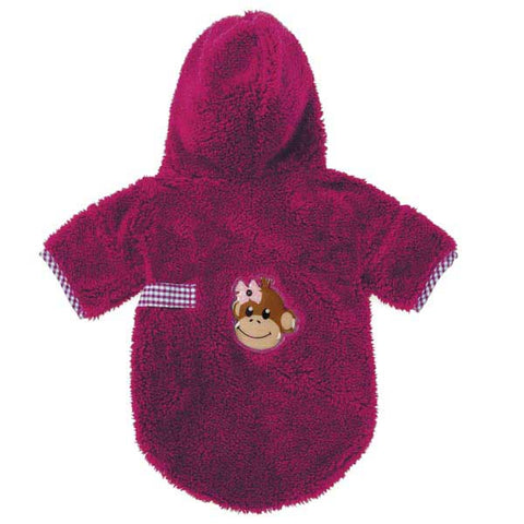 ESC Monkey Business Robe TIFF RASPBERRY-DOG-East Side Collection-X-SMALL-Pets Go Here east side collection, l, m, m/l, pajamas, pink, raspberry, s, s/m, xl, xs Pets Go Here, petsgohere