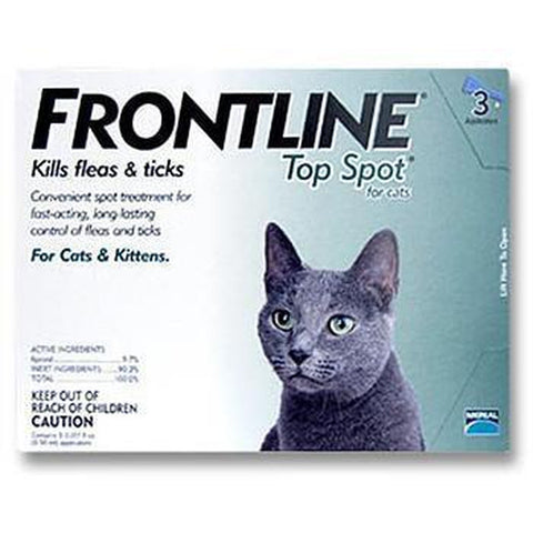 Frontline Top Spot for Cat 3 MONTH-CAT-Merial-Pets Go Here