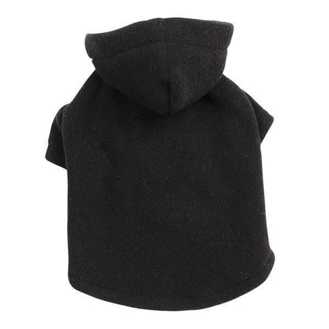 Casual Canine Fleece Dog Hoodie BLACK-DOG-Casual Canine-XX-SMALL-Pets Go Here black, casual canine, cat, dog clothes, fleece, hoodie, l, m, s, shirt, sweatshirt, xl, xs, xxs Pets Go Here, petsgohere