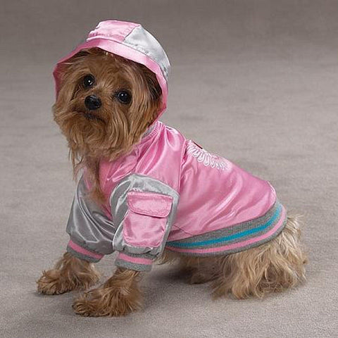 Casual Canine Satin Bomber Dog Jacket-DOG-Casual Canine-LARGE-Pets Go Here