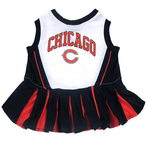 Chicago Bears Cheerleader Dog Dress-DOG-Pets First-MEDIUM-Pets Go Here costume, dog, dog dress, l, m, nfl, pets first, s, sports, test, uniform, xl, xs Pets Go Here, petsgohere