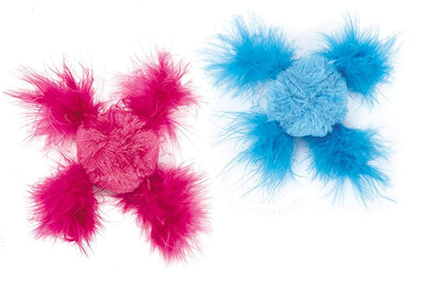 Savvy Tabby Chirping Feather Cat Toys 2 Pack