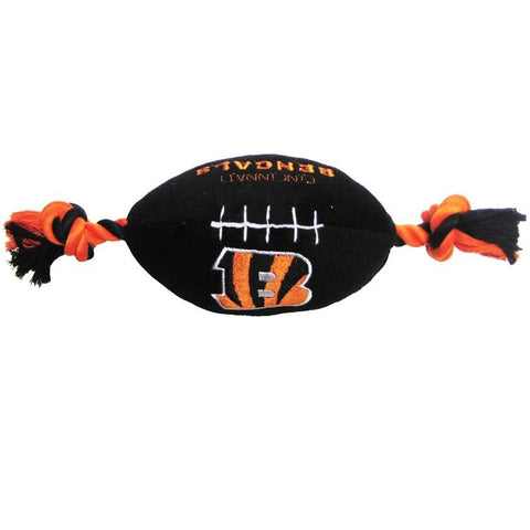 Cincinnati Bengals Plush Dog Toy Football-DOG-Pets First-Pets Go Here