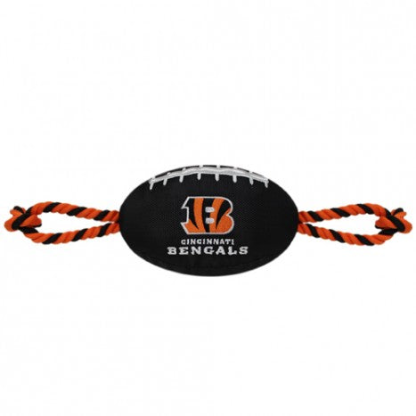 NFL Cincinnati Bengals Nylon Football Dog Toy doggienation, ds, pets first, sports, sports toys Pets Go Here, petsgohere