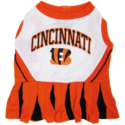 Cincinnati Bengals Dog Cheerleading Uniform Dress-DOG-Hunter-SMALL-Pets Go Here costume, dog, dog dress, doggienation, nfl, pets first, sports, uniform Pets Go Here, petsgohere