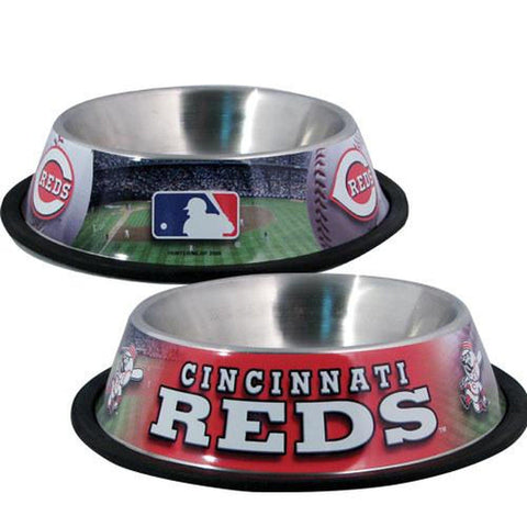 Cincinnati Reds Dog Bowl Review-DOG-Hunter-Pets Go Here