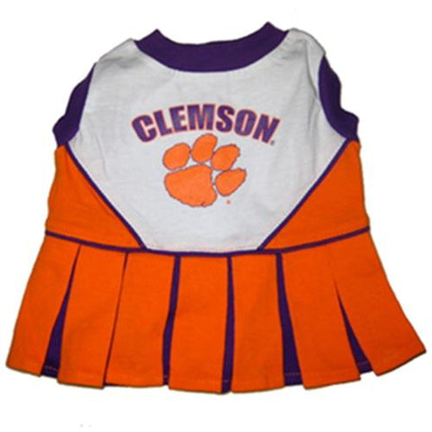 Clemson Tigers Dog Cheerleading Uniform Dress-DOG-Pets First-Pets Go Here