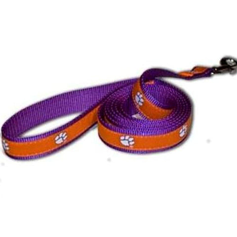 Clemson Tigers Ribbon Dog Leash-DOG-Pet Goods-Pets Go Here ncaa, pet goods, sports Pets Go Here, petsgohere