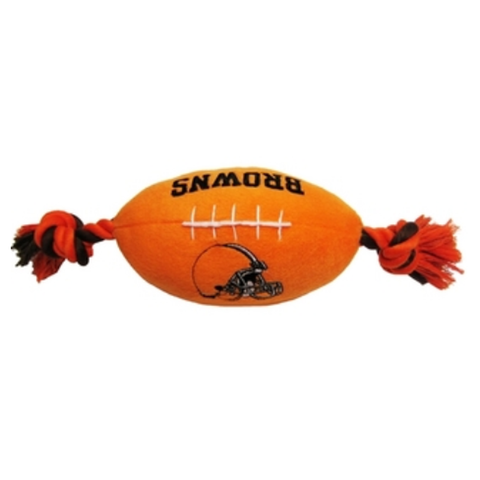 Cleveland Browns Plush Dog Toy Football-DOG-Pets First-Pets Go Here