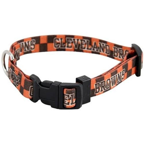 Cleveland Browns Dog Collar-DOG-Hunter-LARGE-Pets Go Here hunter, hunting, l, m, nfl, s, sports, sports collar, sports collars, test, xl, xs Pets Go Here, petsgohere