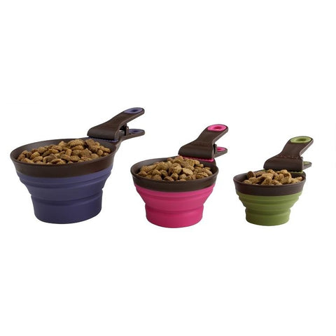 Popware Klip Scoop Travel Bowl-DOG-Dexas-1/2 Cup-PINK-Pets Go Here
