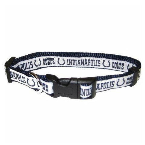 Indianapolis Colts Dog Collar-DOG-Pets First-18-28 In-Pets Go Here 1 in, 18-28 in, l, nfl, nylon, sports, sports collar Pets Go Here, petsgohere